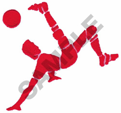 BICYCLE KICK embroidery design