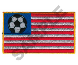 SOCCER FLAG embroidery design