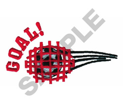 GOAL embroidery design