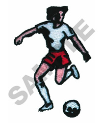 WOMAN SOCCER PLAYER embroidery design