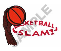 BASKETBALL SLAM! embroidery design
