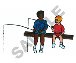 BOYS FISHING embroidery design