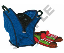 BOWLING BAG AND SHOES embroidery design