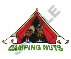 CAMPING NUTS embroidery design