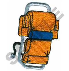 BACK PACK embroidery design