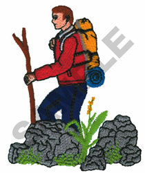 HIKER embroidery design