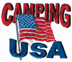 CAMPING USA embroidery design