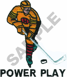 POWER PLAY embroidery design