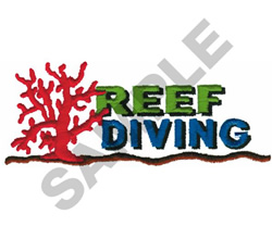 REEF DIVING embroidery design