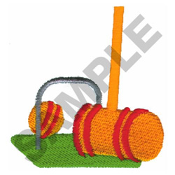CROQUET embroidery design