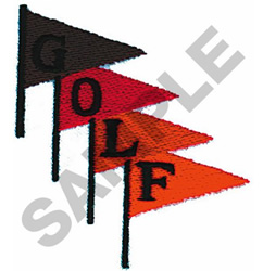 GOLF FLAGS embroidery design