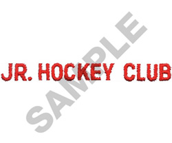 JUNIOR HOCKEY CLUB embroidery design