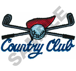 COUNTRY CLUB embroidery design