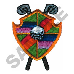 STRIPED GOLF CREST embroidery design