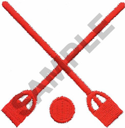BROOMBALL embroidery design