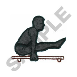 PARALLEL BARS GYMNAST embroidery design