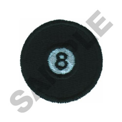 EIGHT BALL embroidery design