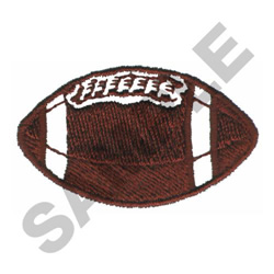 FOOTBALL (SEWN ON WHITE) embroidery design