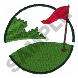 Putting Green embroidery design