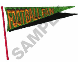 FOOTBALL FAN embroidery design
