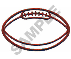 FOOTBALL OUTLINE LARGE embroidery design
