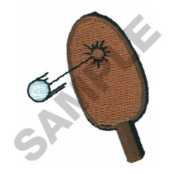 PING PONG embroidery design