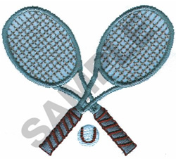 TENNIS RACQUETS AND BALL embroidery design
