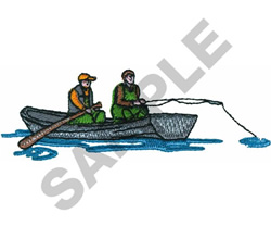 FLY FISHERMEN embroidery design