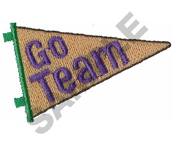 GO TEAM PENNANT embroidery design