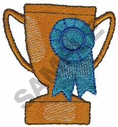 TROPHY & FIRST PLACE RIBBON embroidery design