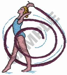 GYMNAST embroidery design