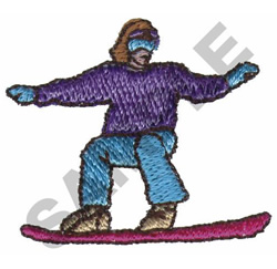 FEMALE SNOWBOARDER embroidery design
