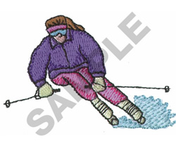 FEMALE SKIER embroidery design
