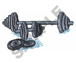 WEIGHTS embroidery design