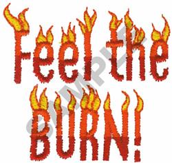 FEEL THE BURN! embroidery design