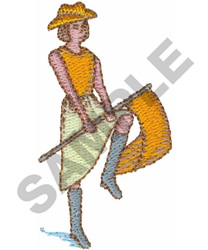FLAG GIRL embroidery design