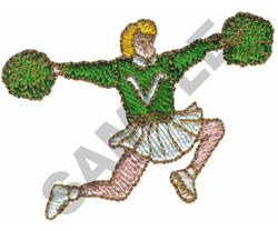 CHEERLEADER embroidery design