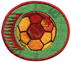 SOCCER CREST embroidery design