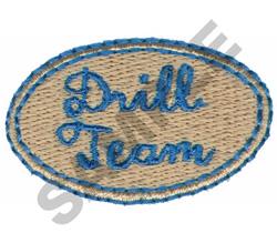 DRILL TEAM embroidery design