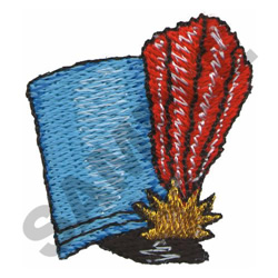 MAJORETTE HAT embroidery design