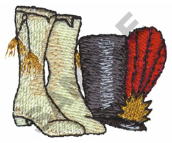 MAJORETTE HAT AND BOOTS embroidery design