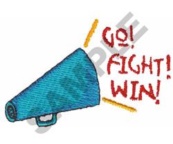 GO! FIGHT! WIN! embroidery design