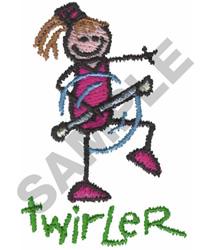 STICK TWIRLER embroidery design