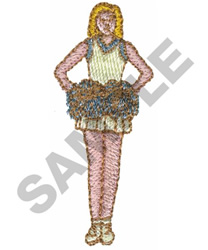 CHEERLEADER embroidery design