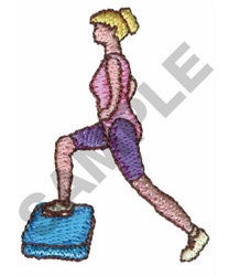 STEP AEROBICS embroidery design