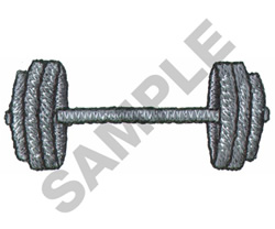 BARBELL embroidery design