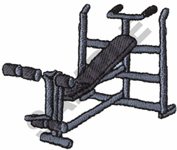 WEIGHT BENCH embroidery design