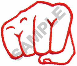 KARATE FIST embroidery design
