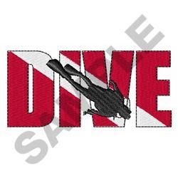 DIVE embroidery design