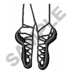 IRISH DANCE SHOES ONE COLOR embroidery design